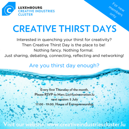 Creative Thirst Day - session 5 | Creative Industries Cluster